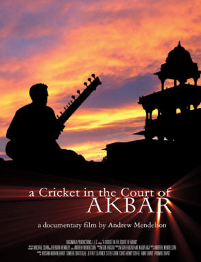 A Cricket in the Court of Akbar sitar dvd documentary from Andrew Mendelson
